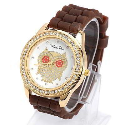 Diamond Decorated Owl Pattern Design Brown. Fashionable with passion REPIN if you like it.😊 Only 107 IDR