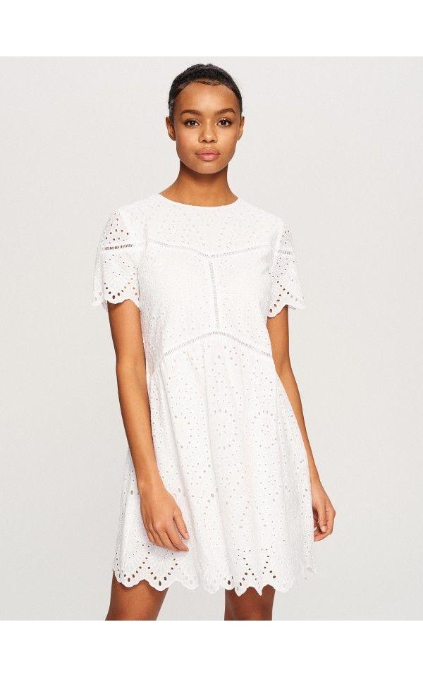 3542641b Biała sukienka, Sukienki, kombinezony, biaŁy, RESERVED | DRESSES ...