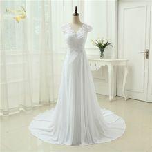 US $67.43 2017 New arrival Wedding Dress Elegant Applique Dress Chiffon Beading Vestidos De Novia Plus Size Beach Bridal Gowns 399390UJL. Aliexpress product