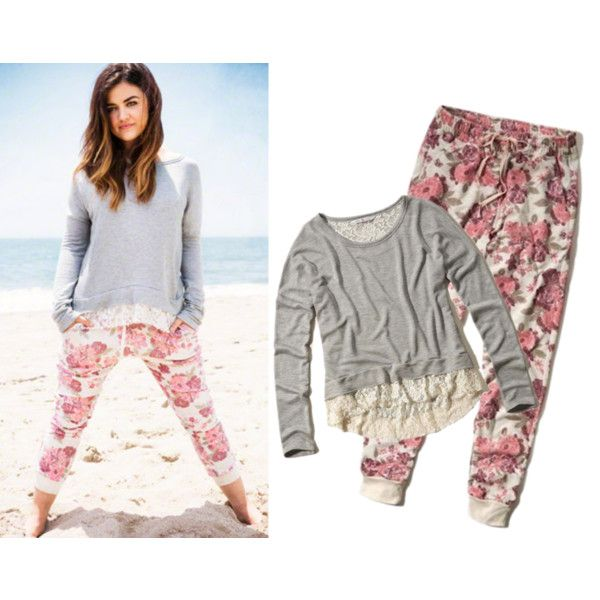 Lucy Hale for Hollister Co by silvana-loli-olivas on Polyvore featuring moda