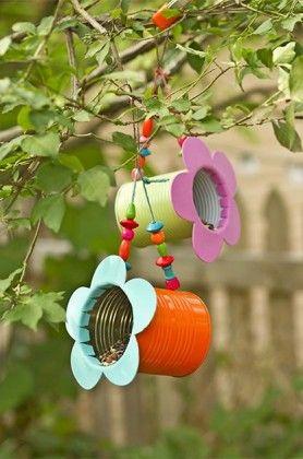 DIY Tin Can Flower Bird Feeder | Birds & Blooms Magazine