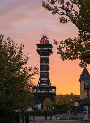 The Tower in the Copenhagen Zoo. If you're close by, don't forget to take a walk in the romantic Frederiksberg Park!