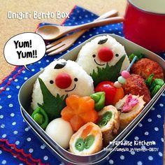MAA's dish photo 初心者さんにも簡単 ツインズおにぎりくん弁当   http://snapdish.co #SnapDish #レシピ #お花見弁当グランプリ2015 #キャラ弁 #お弁当 #節約料理 #キャラクター