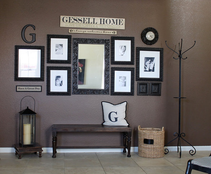 very cute idea for an entry way or mud room. Check out Uppercase Living to see how you can design your own last name. www.wallwords4u.com