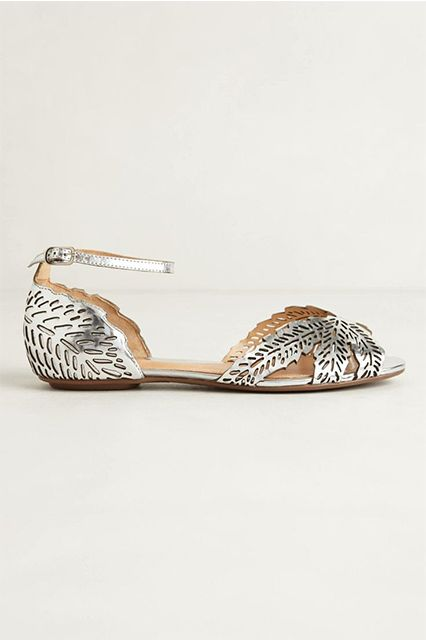 Ditch The Heels On Your Wedding Day With These Picks #refinery29  http://www.refinery29.com/bridal-flats#slide2