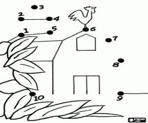 desenho de Uma fazenda para desenhar para colorir