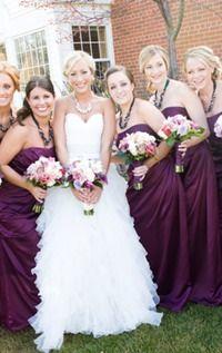 112 best Purple/Aubergine Bridesmaid Dresses images on Pinterest ...