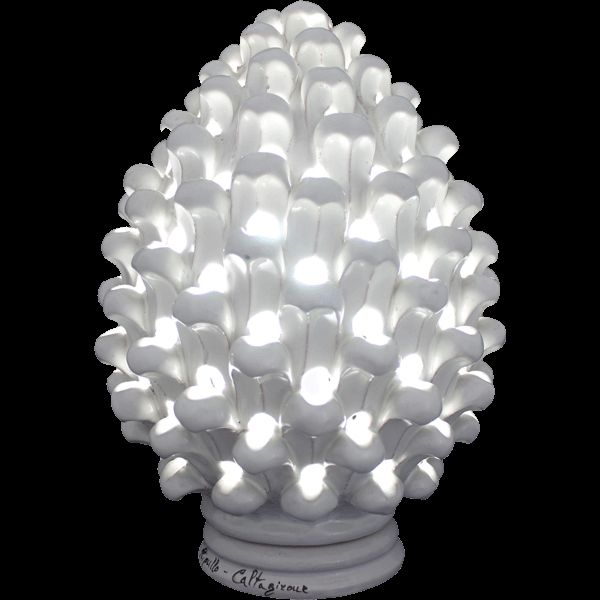 Ceramic Pine cone light Pigna a Lume in Ceramica di Caltagirone