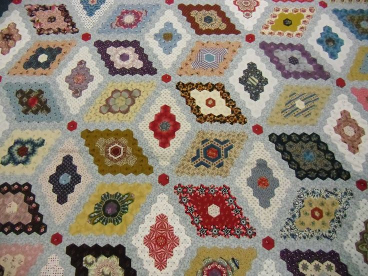Martha Washington's Flower Garden: Quilts Hexi, Karen O'Neil, Epp Hexagons, Epp Quilts, Cut Hexagons, Hexi Quilts, Karen Style, Bill Quilts, Midnight Mad