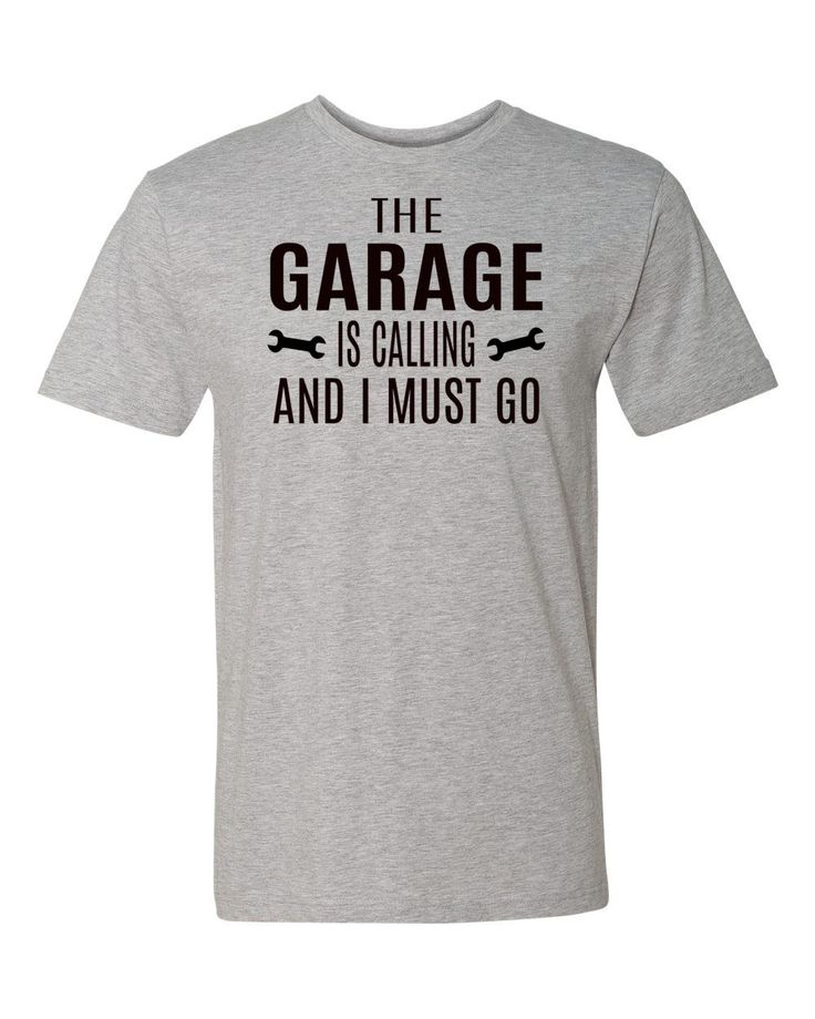 The Garage Is Calling And I Must Go - Garage Shirt - Dad Gift - Dad Shirts - Mechanic Gifts by FamilyTeeStore on Etsy