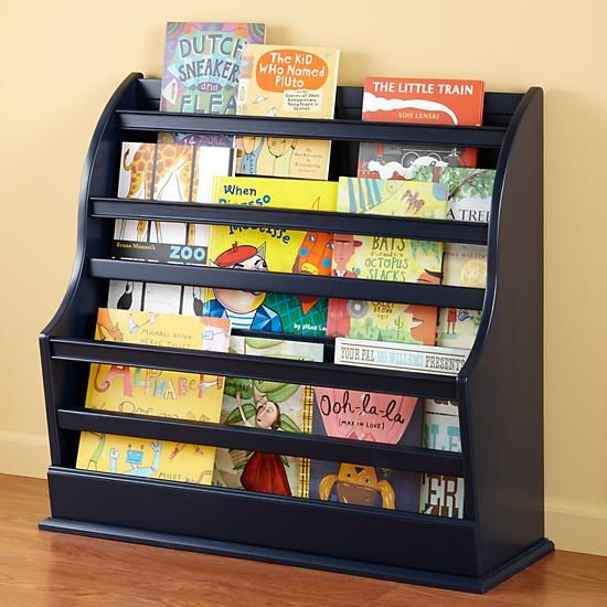 Kids Storage: Kids Navy Blue Floor Bookcase in Bookcases   The Land of Nod