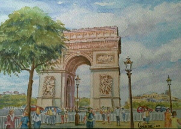 Arco del triunfo - Acuarela Gerardo Vejarano T.
