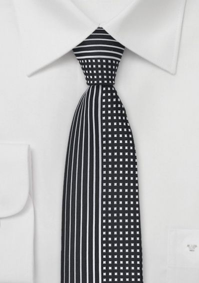Krawatte geteiltes Dessin tintenschwarz