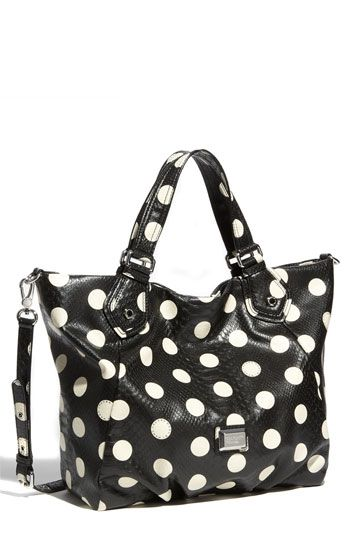 $240 MARC BY MARC JACOBS 'Dotty Snake Fran' Faux Leather TotePolka Dots, Jacobs Polka, Awesome Handbags, Snakes Fran, Marc Jacobs, Leather Totes, Jacobs Dottie, Dottie Snakes, Dots Handbags