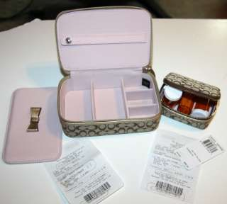 COACH Khaki Signature Travel JEWELRY BOX