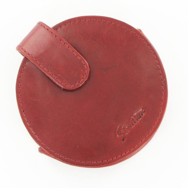 Stratton Round Red Leather Compact Case Large #Jewellery #Accessories #scarf