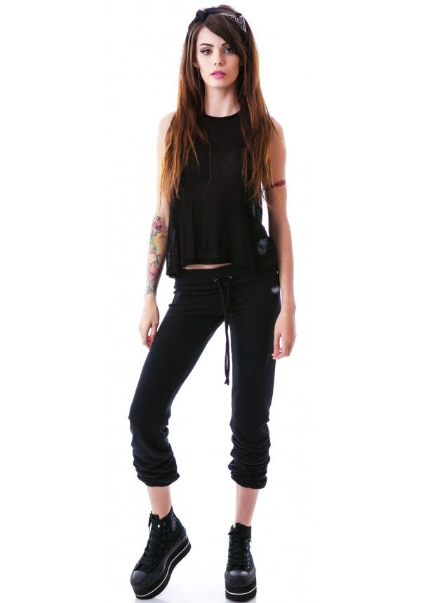 Wildfox Couture Essentials Malibu Skinny Sweats | Dolls Kill