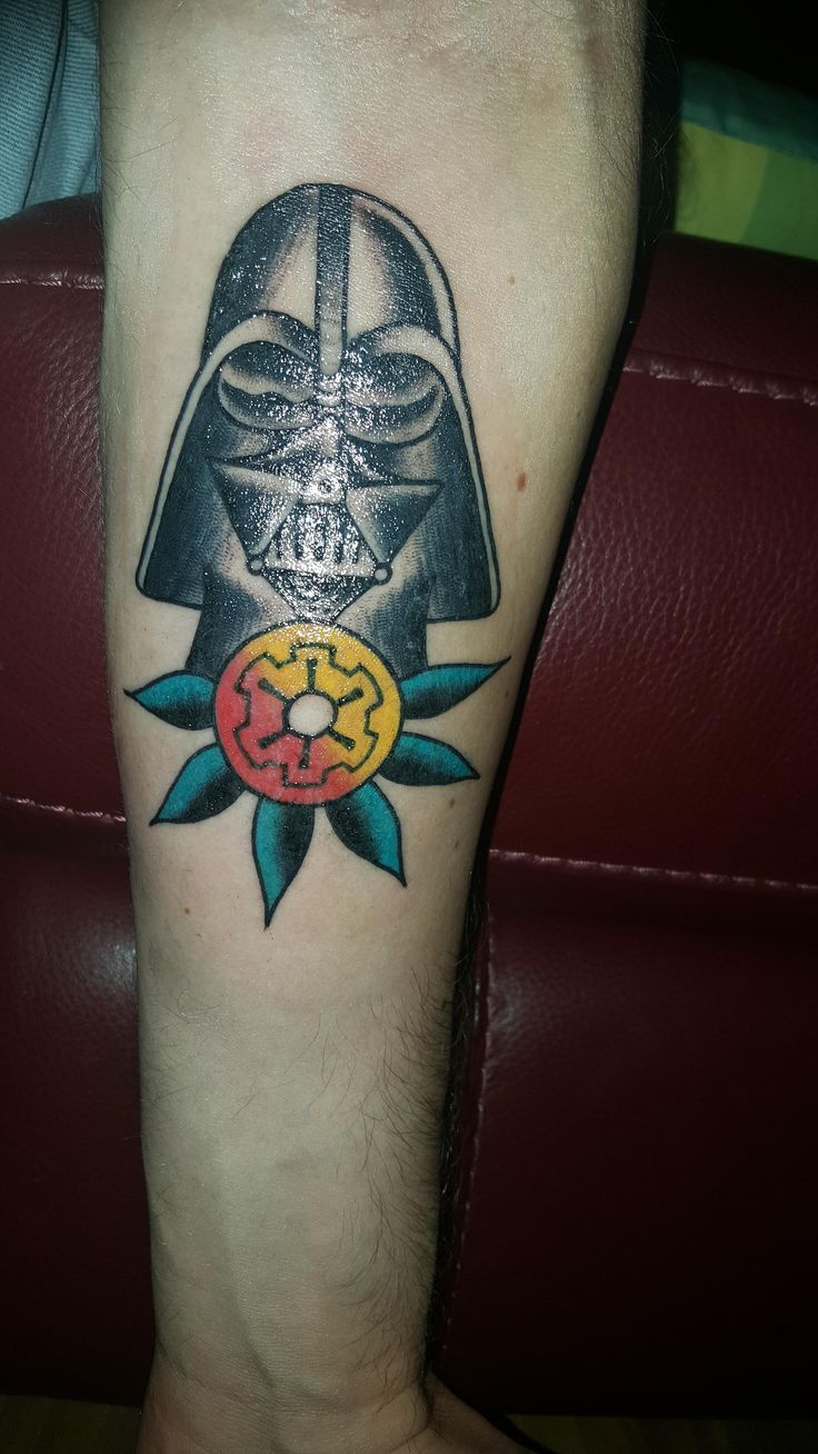 Have been wanting both a traditional tatt and something star wars related. Ended up getting this. Ollie at Southside Tattoos Australia