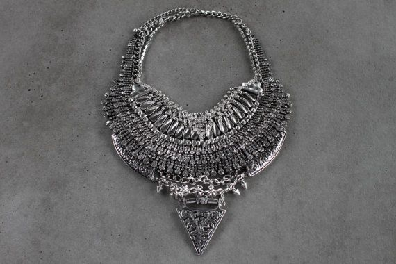 New Design Handcrafted Statement Necklace Silver by Lacersuite