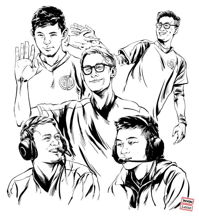 For the NA LCS Finals Sketches of TSM & Cloud 9 https://www.invenglobal.com/lol/articles/1649/for-the-finals-sketches-about-tsm-cloud-9 #games #LeagueOfLegends #esports #lol #riot #Worlds #gaming