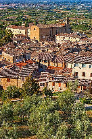 San Gimignano, Patrimonio de la Humanidad, en la provincia de Siena, Toscana, Italia, Europa