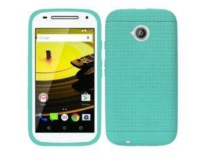 Motorola Moto E(2nd Gen) Case, eForCity Rugged Rubber Silicone Soft Skin Gel Case Cover for Motorola Moto E(2nd Gen), Teal