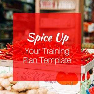 Tired of the same old training plan template? Spice it up! #vingblog #trainingplantemplate