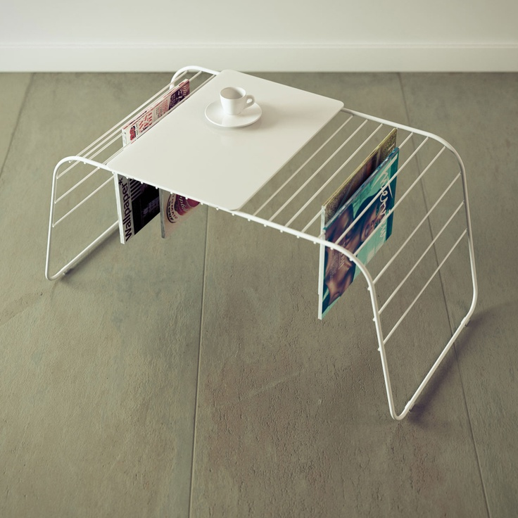 Coffee table magazine rack.