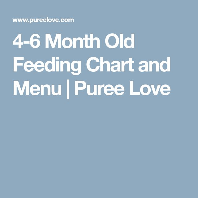 4 6 Month Old Feeding Chart And Menu
