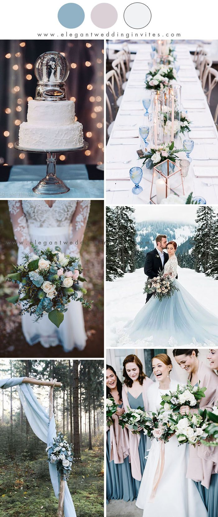 10 Best Winter Wedding Color Palettes For 2019 2020 In 2020