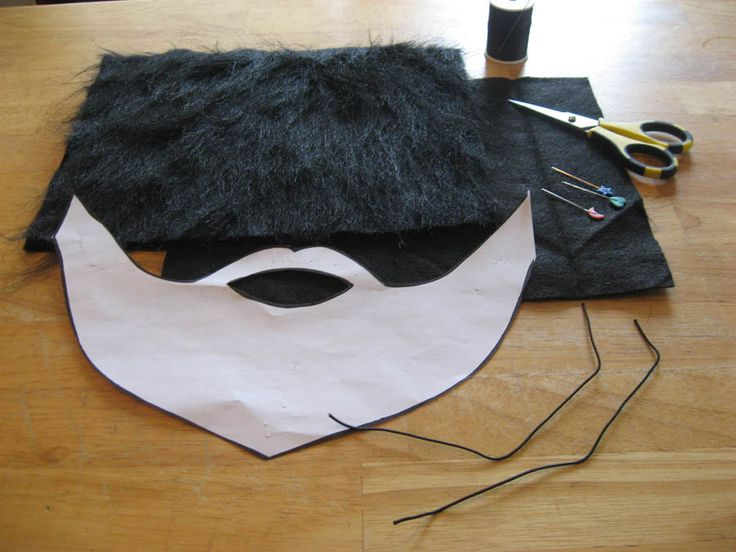 Follow these easy step-by-step instructions Step 1) Gather your Supplies You will two pieces of felt sized at 11 x 8.5 inches in the beard color of your choice (I've decided to make my beard …
