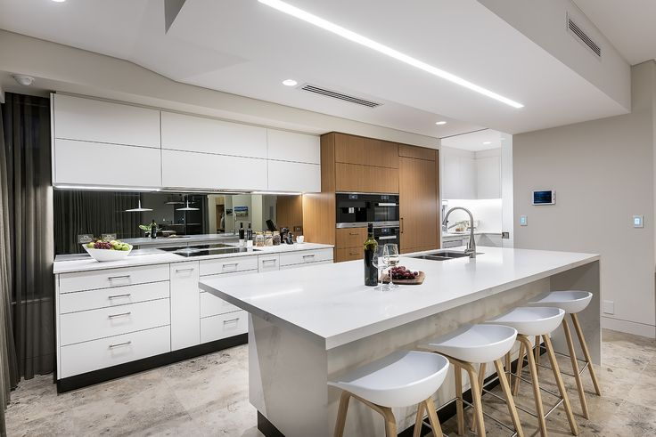 Clean, contemporary white kitchen. Designed by Greg Davies Architects, Built by Urbane Projects