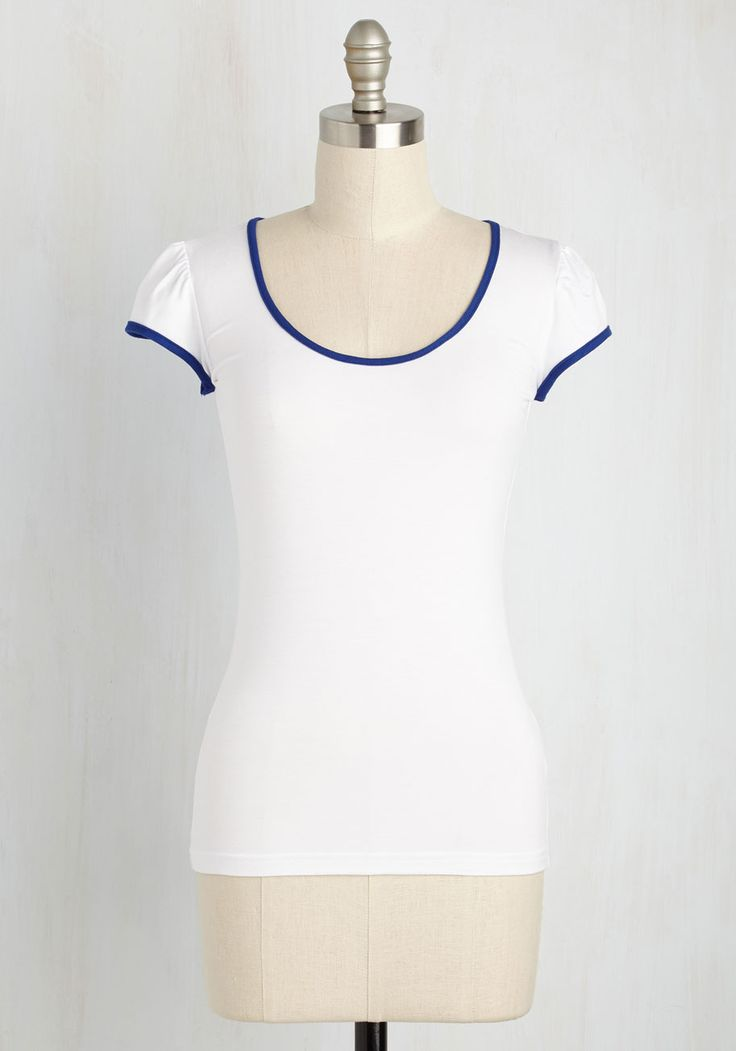 I Love You, I Love You Nautical Top in White. On the fence about sailing? #white #modcloth
