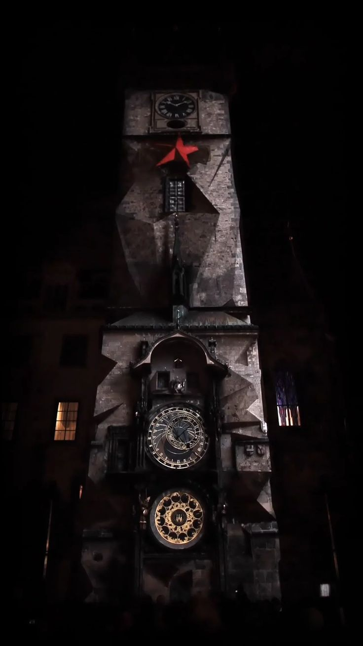 Mapping during 600 years anniversary of the astronomical tower clock situated at Old Town Square in center of Prague.  Concept and animations: Dan Gregor ( www.initi.org…
