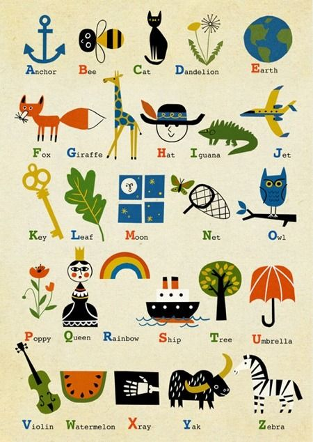 Christian Robinson — Alphabet Poster