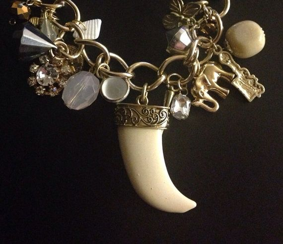 Chunky Charm Necklace on Etsy, £20.00