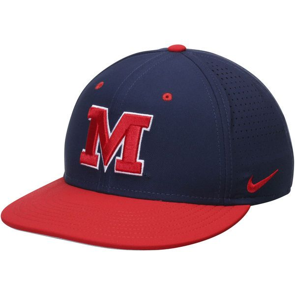 Ole Miss Rebels Nike True Vapor Performance Fitted Hat - Navy/Red - $36.99