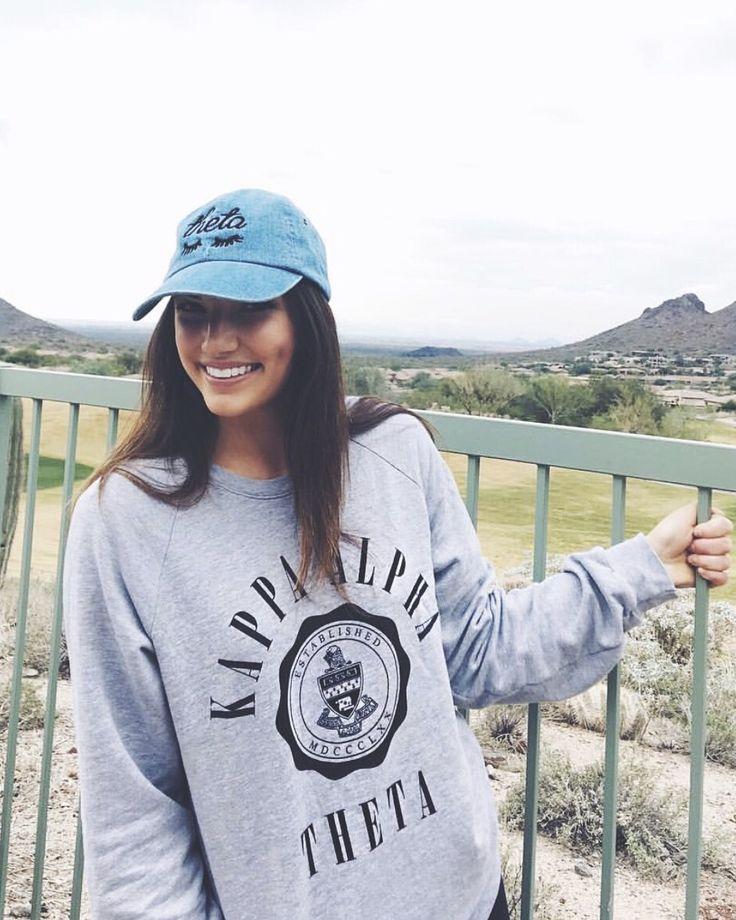 Kappa Alpha Theta sweatshirt & hat | by #AliAndAriel