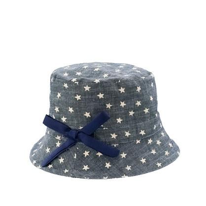 Girls' bucket hat in twinkle chambray: Gardens Work, Twinkle Chambray, Kids Stuff, Crew, Buckets Hats, Bucket Hat, Adella Rose, Alex O'Loughlin, Kids Rooms