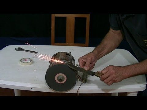 COMO HACER UN AFILADOR DE CUCHILLOS (motor de lavadora) HOW TO KNIFE SHARPENER - YouTube