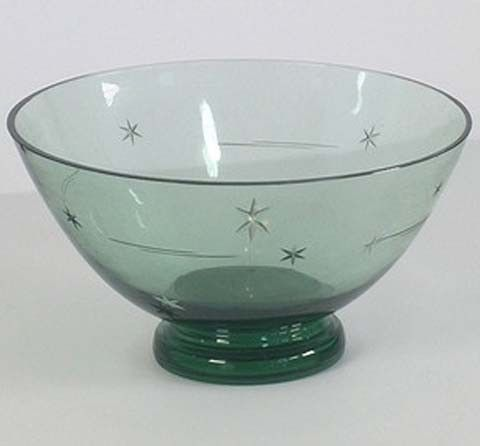 Karhula Celestial Goran Hongell Signed Glass Bowl Made in Finland