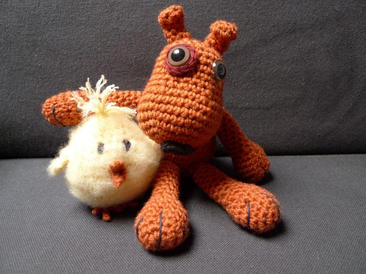 Amigurumi crochet. Amigos.