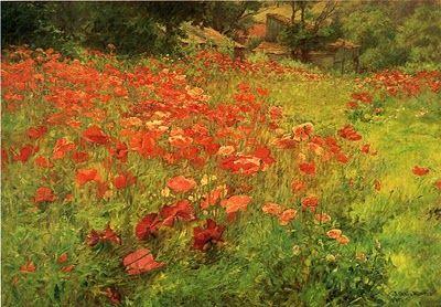 John Ottis Adams (1851-1927) American Impressionist Painter - In Poppyland, 1904