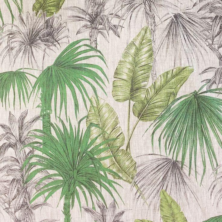 Palm Leaf Fabric - Green