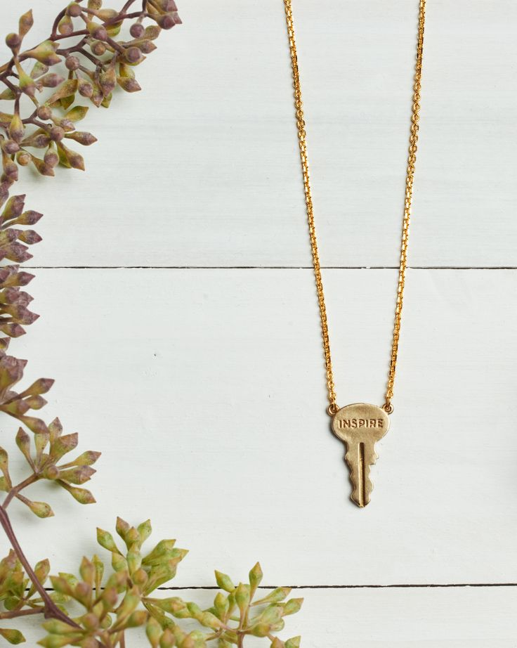 INSPIRE.  The Giving Keys necklace.