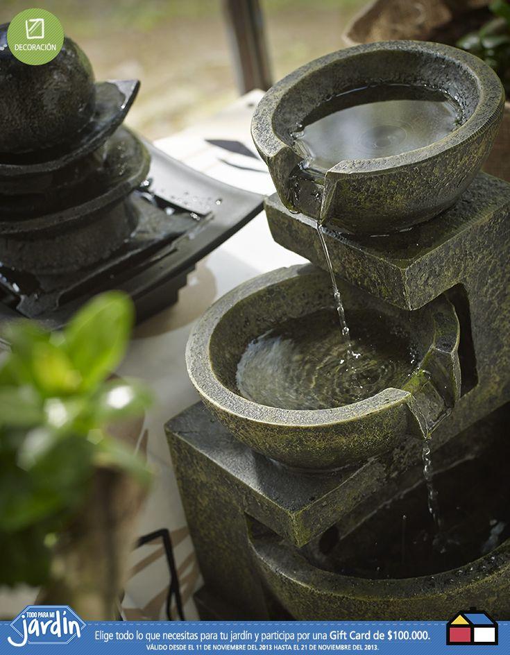 Fuentes de agua para tu #jardin Muero por una fuente para mi antejardín!!!