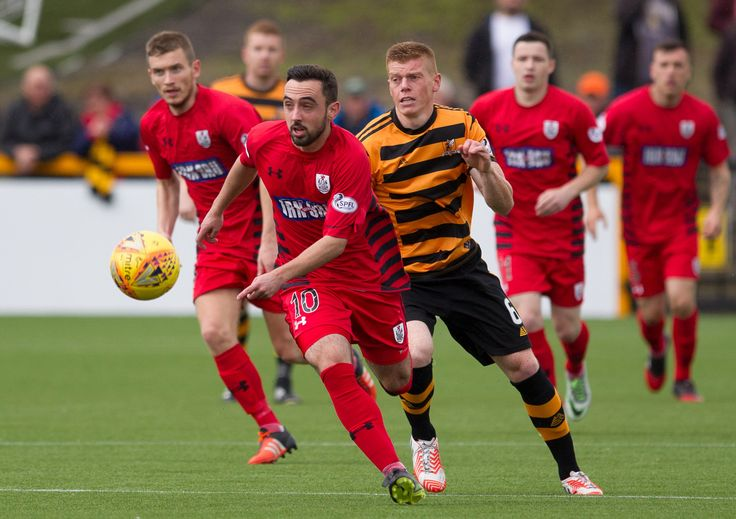 Queen's Park's Anton Brady in action during the SPFL League One game between Alloa Athletic and Queen's Park.