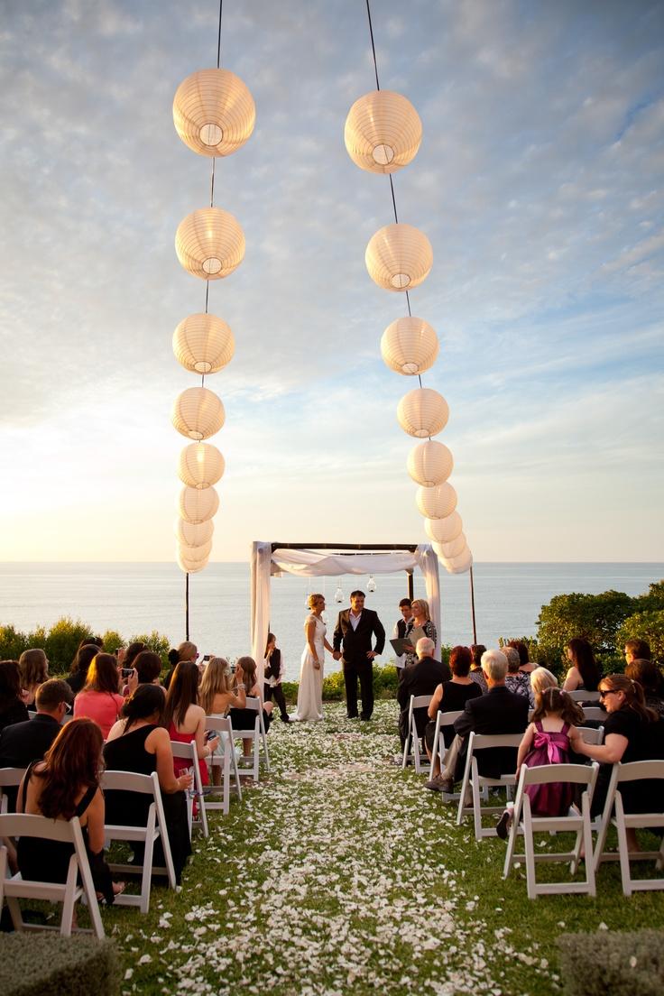 beach wedding south west uk%0A Cliff side wedding