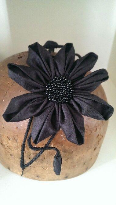Floral headband - Black - by Lauren J Ritchie