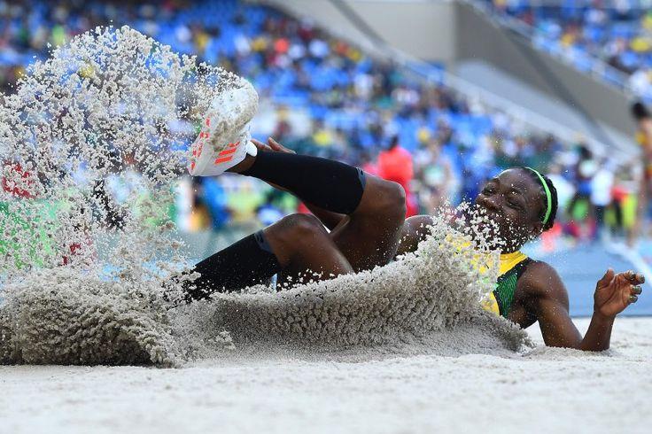 Guter Sprung: Kimberly Williams aus Jamaika hat sich für das Dreisprung-Finale...
